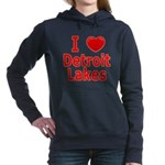 2-I Love Detroit Lakes Women's Hooded Sweatshi
