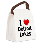 2-I Love Detroit Lakes Canvas Lunch Bag
