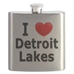 2-I Love Detroit Lakes Flask