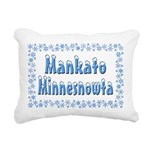 MankatoMinnesnowta Rectangular Canvas Pillow
