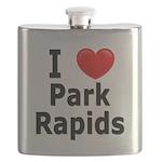 I Love Park Rapids Flask