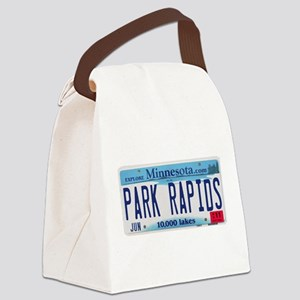 Park Rapids MNLicensePlate Canvas Lunch Bag