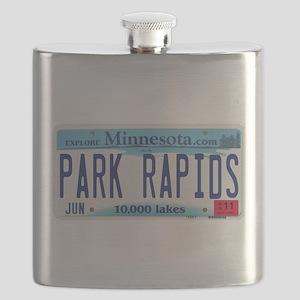 Park Rapids MNLicensePlate Flask