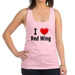 I Love Red Wing Racerback Tank Top