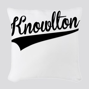 Knowlton, Retro, Woven Throw Pillow