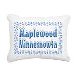 MaplewoodMinnesnowta Rectangular Canvas Pillow
