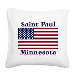 I Love Saint Paul Square Canvas Pillow