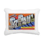 Greetings from St Paul 1937 Rectangular Canvas