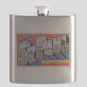 Greetings from St Paul 1937 Flask