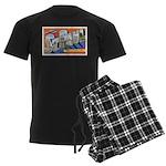 Greetings from St Paul 1937 Men's Dark Pajamas