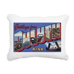 Greetings from Duluth Rectangular Canvas Pillo