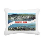 Greetings from Duluth Rectangular Canvas Pillow