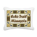 Echo Trail Loons Rectangular Canvas Pillow