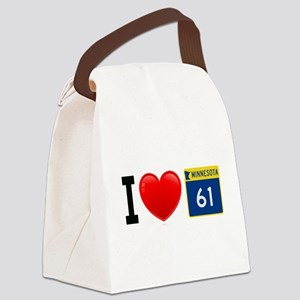 I Love Grand Marais Canvas Lunch Bag