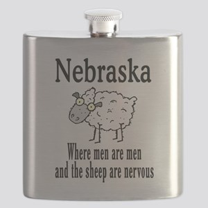 Nebraska sheep Flask