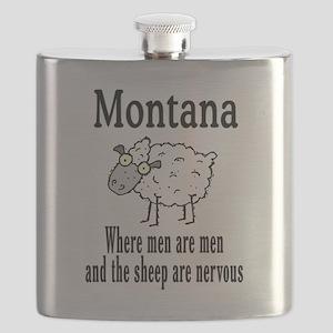 Montana sheep Flask