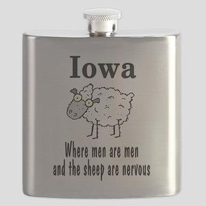 Iowa sheep Flask