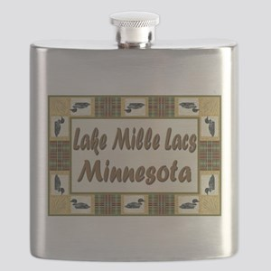 Lake Mille Lacs Loons Flask