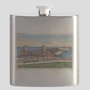 Navy Pier Chicago 1930s Flask