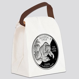 Alaska Quarter Canvas Lunch Bag
