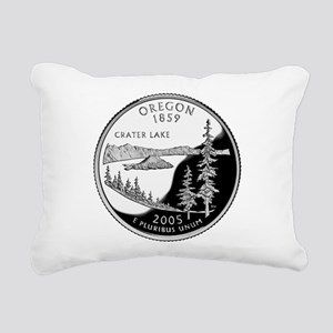 Oregon Quarter Rectangular Canvas Pillow