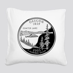 Oregon Quarter Square Canvas Pillow