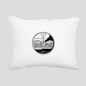 Utah Quarter Rectangular Canvas Pillow
