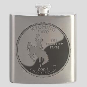 Wyoming Quarter Flask