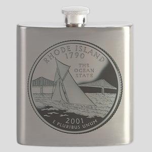 Rhode Island quarter Flask