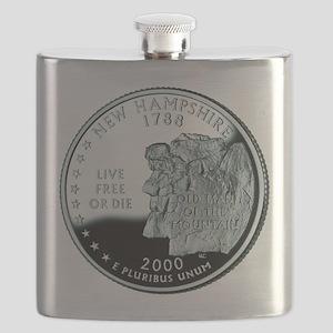 New Hampshire quarter Flask