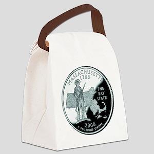 Massachusetts quarter Canvas Lunch Bag