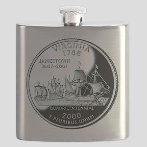 Virginia Quarter Flask