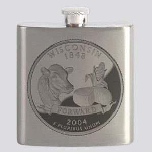Wisconsin Quarter Flask