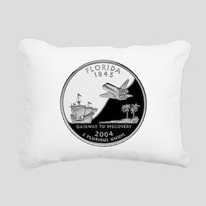 Florida Quarter Rectangular Canvas Pillow