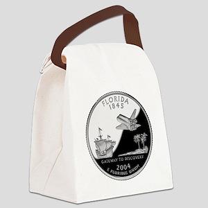 Florida Quarter Canvas Lunch Bag
