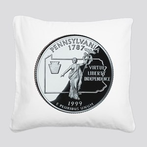 PA Quarter Square Canvas Pillow