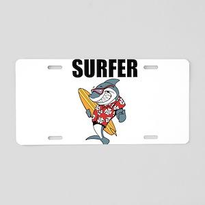 Surfer Aluminum License Plate
