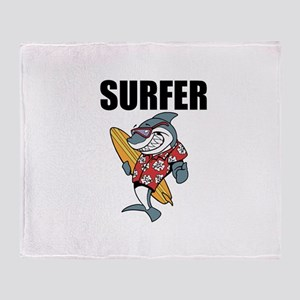 Surfer Throw Blanket