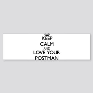 Keep Calm and Love your Postman Bumper Sticker