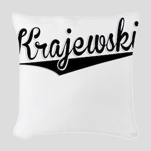 Krajewski, Retro, Woven Throw Pillow