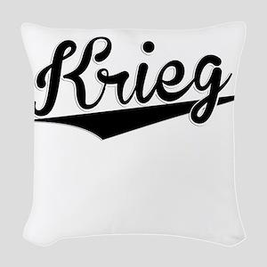 Krieg, Retro, Woven Throw Pillow