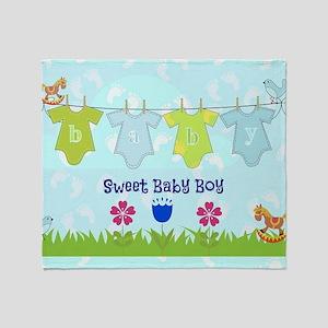 Sweet Baby Boy Throw Blanket