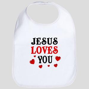 Jesus loves you -Hearts Bib