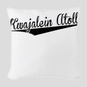 Kwajalein Atoll, Retro, Woven Throw Pillow