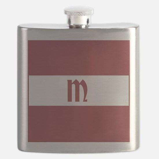 Team Latvia Monogram Flask