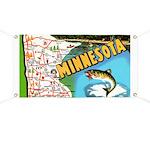 1940's Minnesota Map Banner