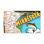 1940's Minnesota Map 20x12 Wall Decal