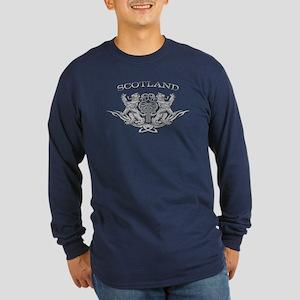 TRIBAL SCOTTISH Long Sleeve Dark T-Shirt