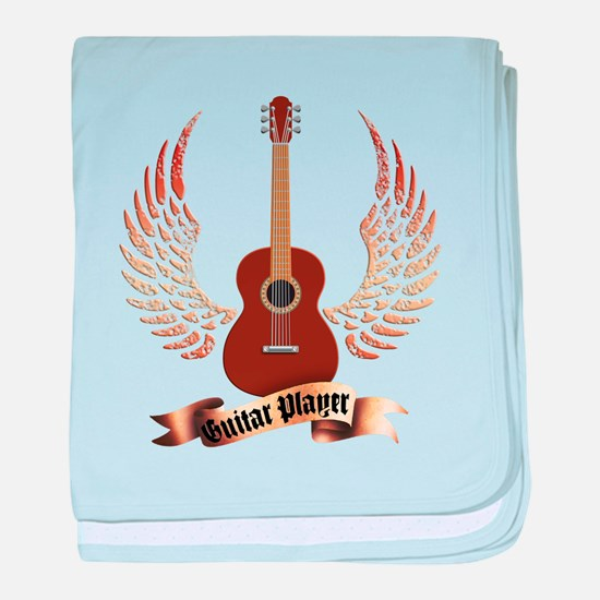 Western Classic Guitar player baby blanket