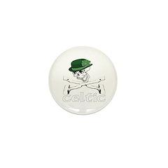 celtic shillelagh Mini Button (10 pack)